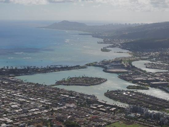 Koko Crater Trail: the view from Koko Head