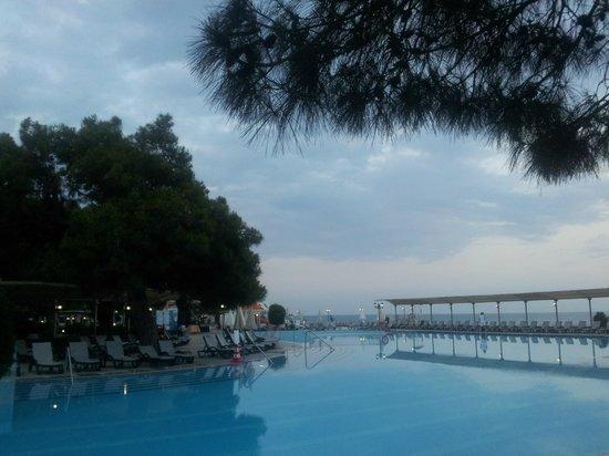 Majesty Club La Mer : Бассейн (вид на море)