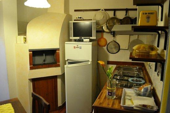Cucina della Dependance con forno a legna - Picture of La ...