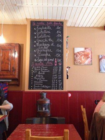 Osteria Bolognese: il menu
