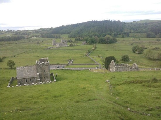 Fore Abbey : View from the top of the hill