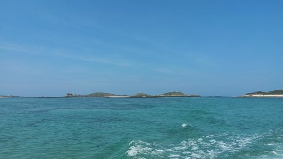 St Martin's Campsite : View from the island ferry