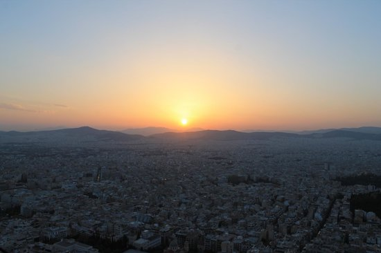 Mount Lycabettus : Sunset over Athens