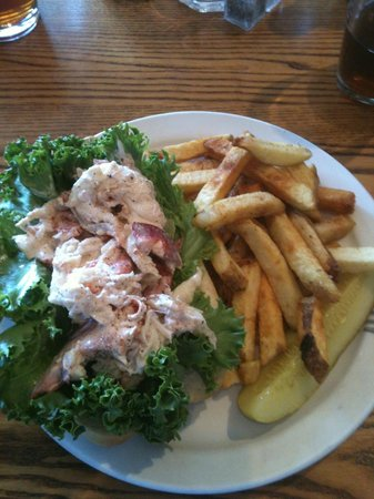 Newcastle, ME: Lobster Roll on baguette with hand-cut fries
