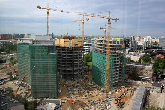 Hilton Warsaw Hotel & Convention Centre : View of construction from our window