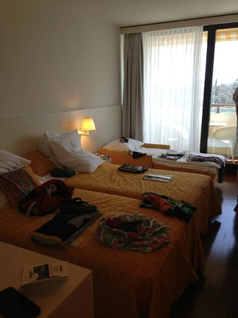 Island Hotel Istra: Room with the extra bed! (Sorry for the mess)
