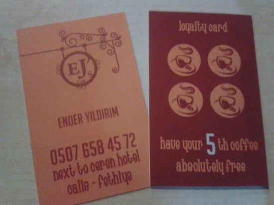 EJ's Cafe: voucherss