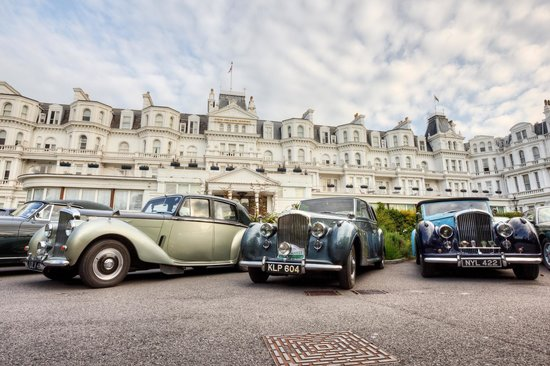 The Grand Hotel Eastbourne: Bentleys at rest