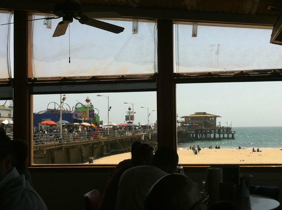 Bubba Gump Shrimp Co: view of the Pier from Bubba Gump