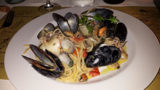 Ristorante Amaro Braceria: Spaghetti with seafood