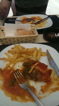 LA METROTECA: Lomo a la Riojana con sabor a Bacalao y papatas al aceite antiguo