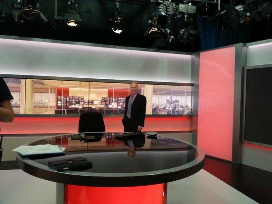 BBC Birmingham Tours: Studio where the local news is filmed