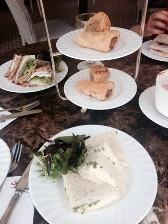 Bettys Cafe Tea Rooms - Harrogate: Sandwiches and sausage rolls