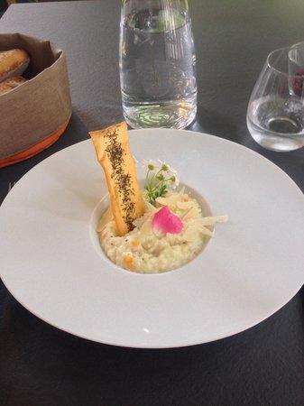 Le moulin de la Tardoire : Risotto with asparagus as a starter