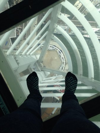 Spinnaker Tower: The view from the glass floor! :)