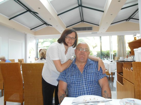 Portes Beach Hotel: the lovely waitress who waited on our table