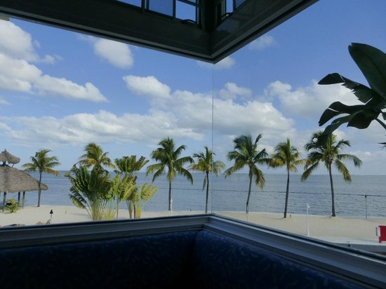 Key Largo Bay Marriott Beach Resort: View from inside Restaurant - breakfast or dinner