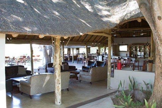 Simbavati River Lodge: Open air main lodge area