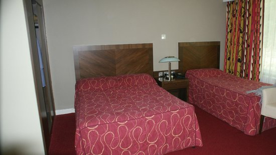 Ballyroe Heights Hotel: Room, had a double and single, full length window and en-suite