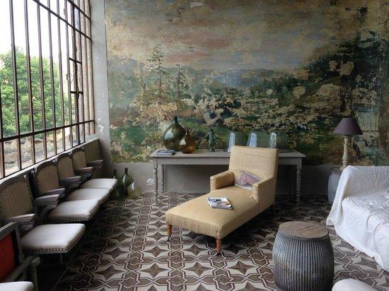 Chateau d'Uzer: Salle de lecture et de détente...