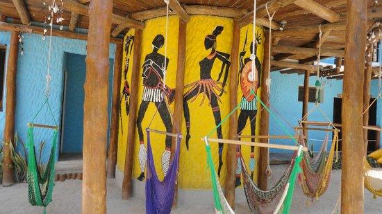 Tribu Hostel : hammocks outside