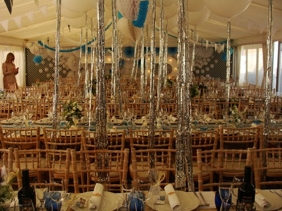 The Gallivant: marquee set out for 160 guests
