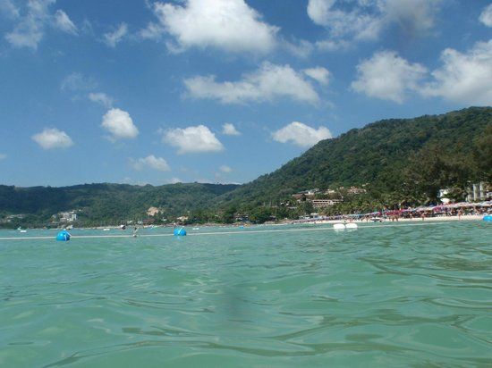Patong Beach: View of the ocean from the beach