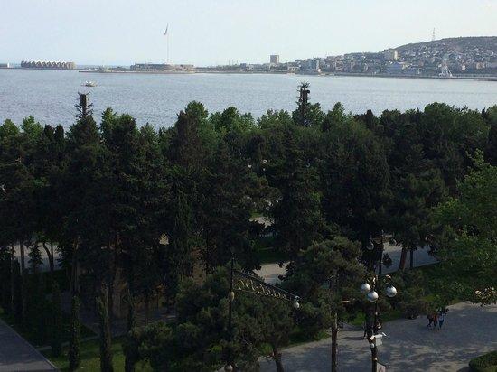 Park Inn by Radisson Azerbaijan Baku Hotel: Sea view from room No. 604