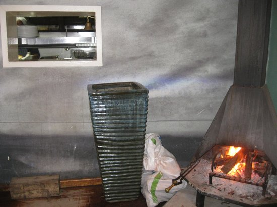 Santos Express : fire place in restaurant