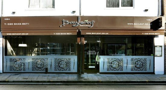 Front elevation picture of bayleaf restaurant london
