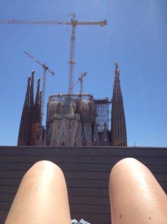 Sensation Sagrada Familia: view from the sunbathing area:-))