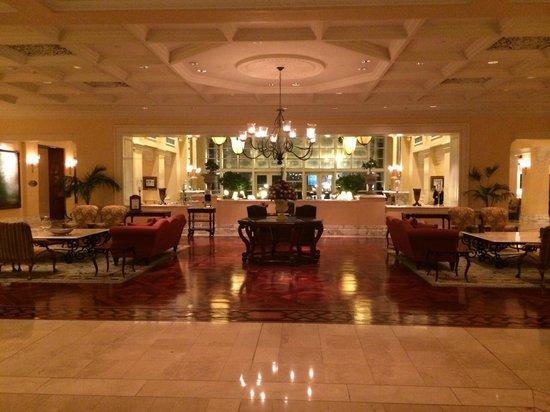 The Table Bay Hotel: The hotel lobby.