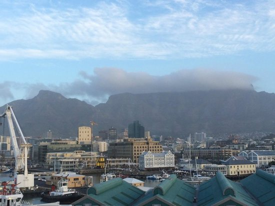 The Table Bay Hotel: View of the Table Mountains from the room.