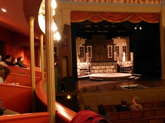 Theatre Royal: View of the stage from the box