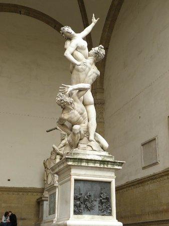 Loggia dei Lanzi: The Rape of the Sabine Women