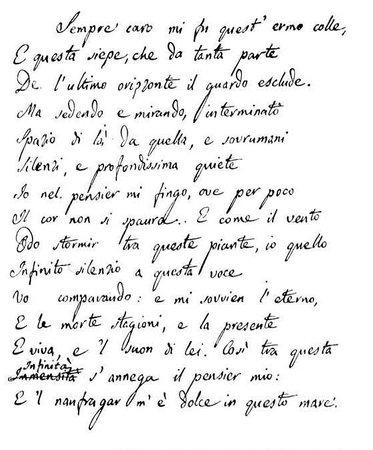 Recanati, Italie : Infinito