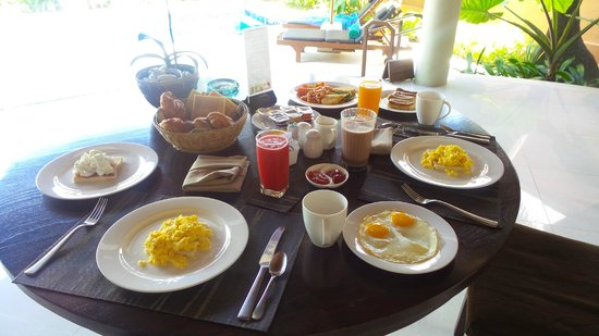 The Kunja Villas & Spa : Delicious breakfast