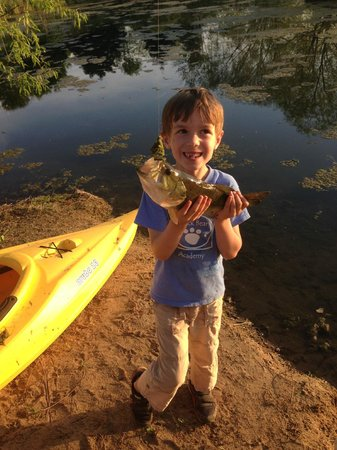 Tierra Linda Bed and Breakfast: catching a bass!
