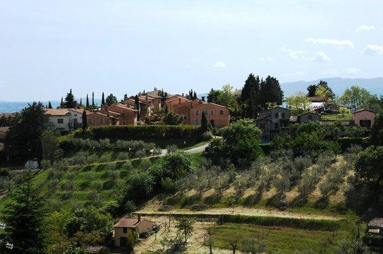 Il Poggio : view of the compound from Celle sul Rigo town