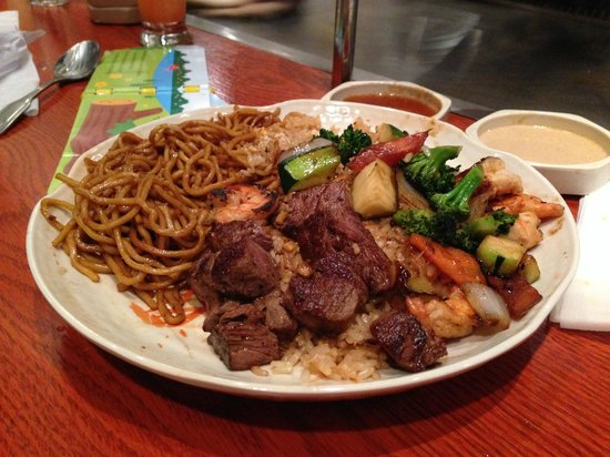 Steak and Scallops @ Wild Kanji, 514 Bridgeport ave, Shelton, CT