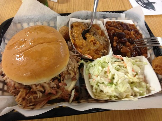 Due South Pit Cooked BBQ : Sandwich & Sides
