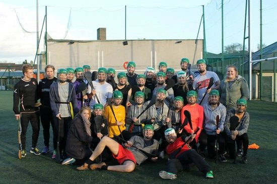 Experience Gaelic Games : Group photo after a great game of Hurling!