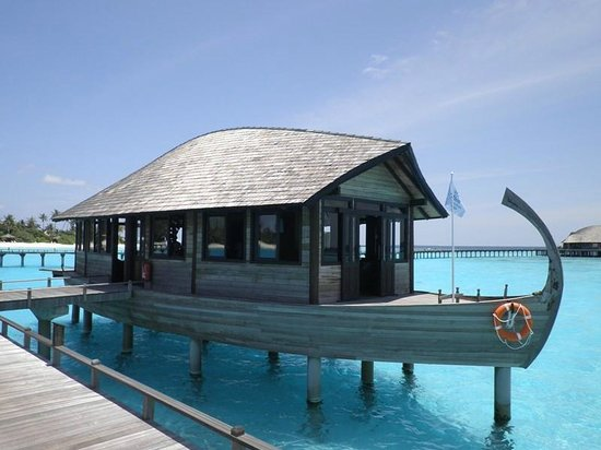 The Sun Siyam Iru Fushi Maldives : Ковчег ( здесь мы оставляли чемоданчики, в ожидании гидросамолета)