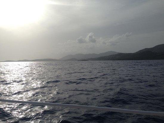 Heavenly Days Catamaran: Heavenly Days Sunset Sail View - St. Thomas