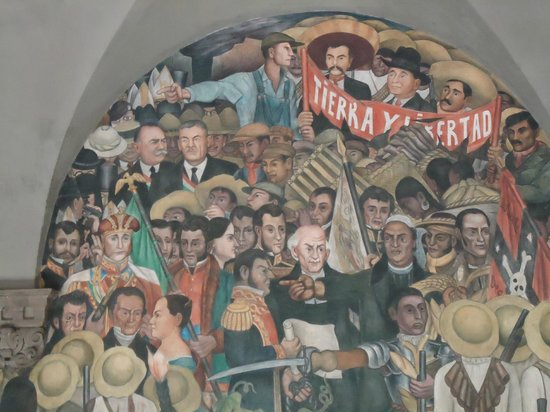 Palacio Nacional: Líderes Revolucionários. Destaque para Zapata
