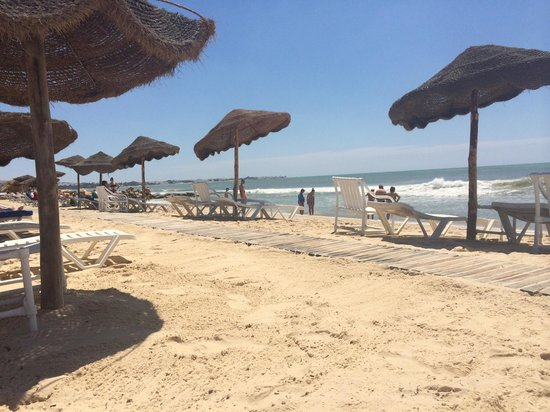 Hammamet Beach : The private beach outside sentido Phoenicia. Spotless.