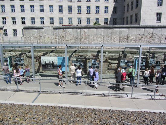Topography of Terror: View of the visitors reading the history