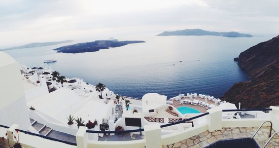Chic Hotel Santorini: Amazing view from our room!!