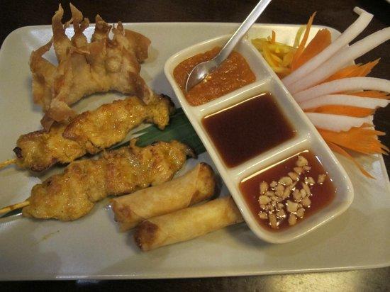 Thai Inside: appetizer sampler
