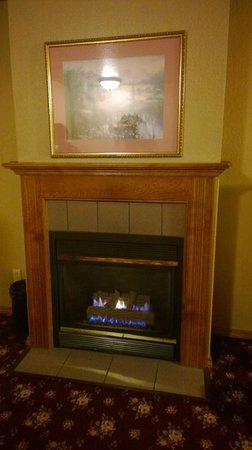 Best Western Plus Bayshore Inn: Fireplace in the king suite